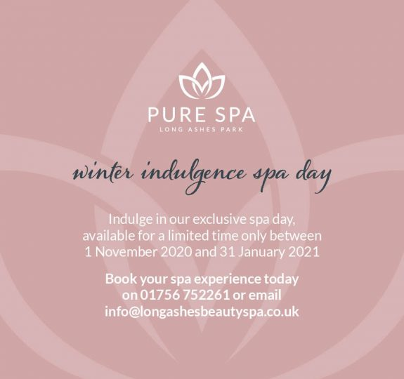 2020 LAPS Winter Indulgence Spa Day Social Graphic