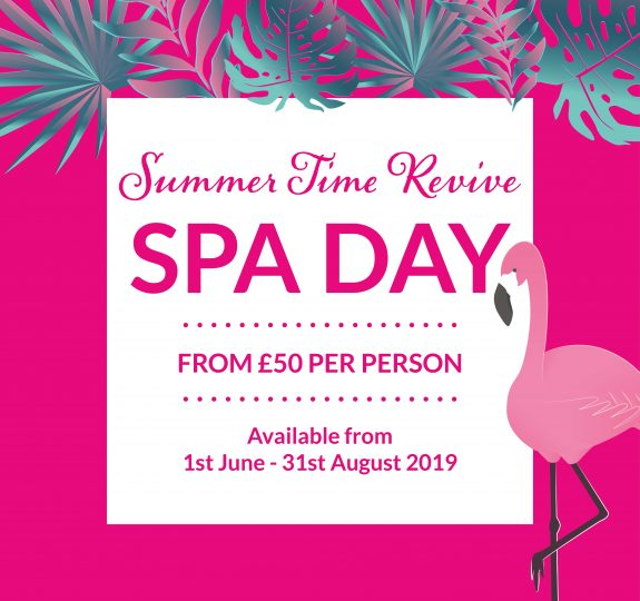 Laps Summer Time Revive Spa Day Social Graphic